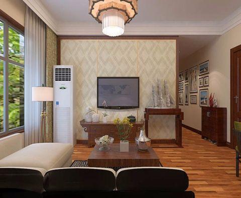 新古典风格80平米两室两厅室内装修效果图