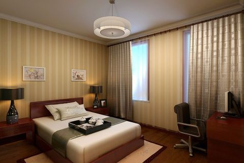 卧室窗帘混搭风格装潢效果图
