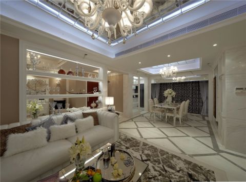 客厅沙发简欧风格效果图