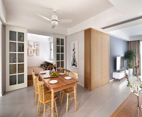 简约风格120平米两室两厅室内装修效果图