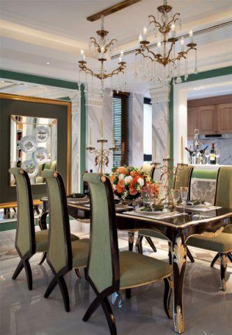 餐厅吊顶简欧风格装潢效果图