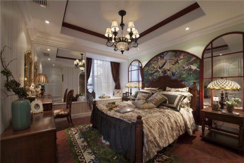 卧室吊顶美式风格装饰效果图