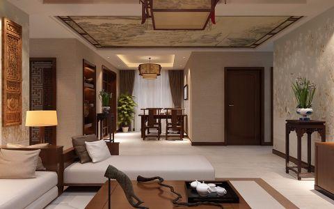 客厅走廊中式风格装潢图片