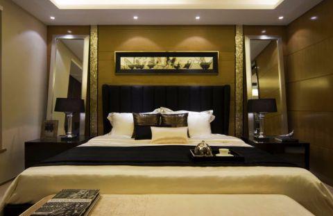 卧室床后现代风格装饰设计图片