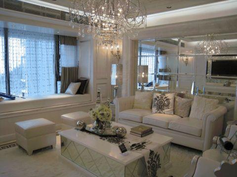 简欧风格90平米三室两厅室内装修效果图