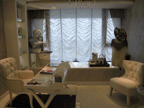 书房窗帘简欧风格装修效果图