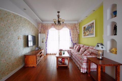 田园风格120平米四室两厅室内装修效果图
