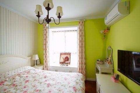 卧室背景墙田园风格装修设计图片