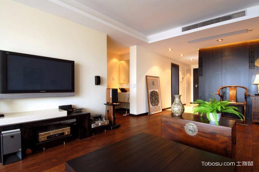 客厅黑色电视柜美式风格效果图