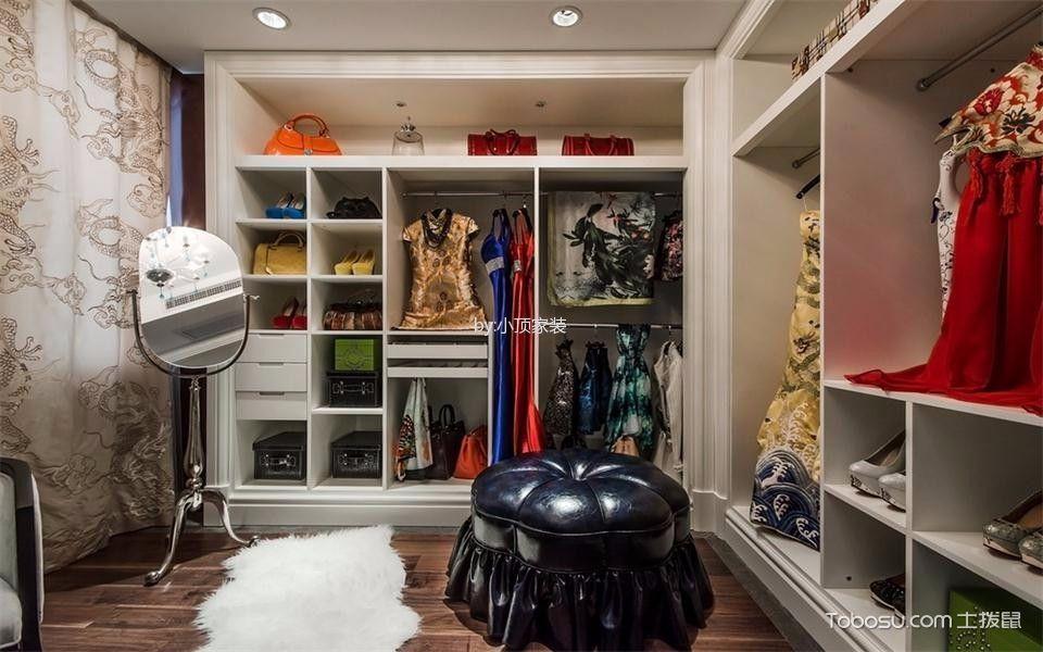 衣帽间 地板砖_简欧风格130平米三室两厅新房装修效果图