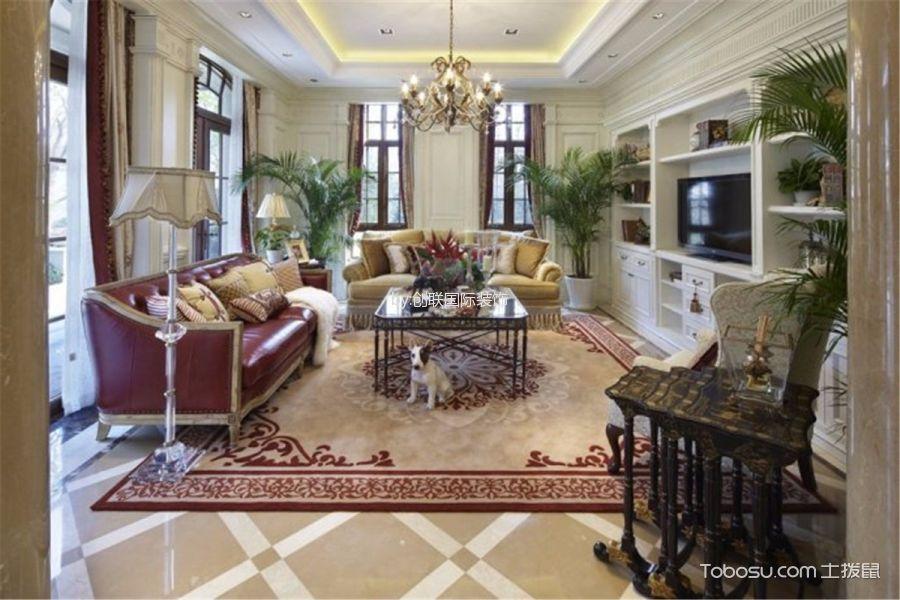 欧式风格280平米别墅室内装修效果图