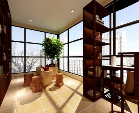 阳台博古架韩式风格装饰图片