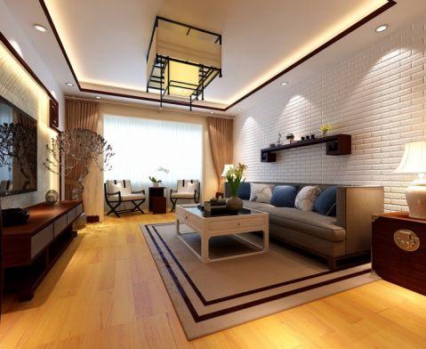 客厅背景墙韩式风格装潢图片