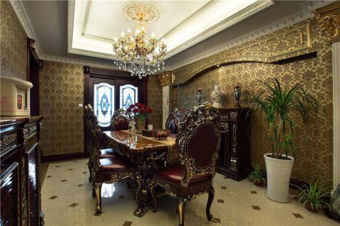 餐厅背景墙欧式风格装修图片