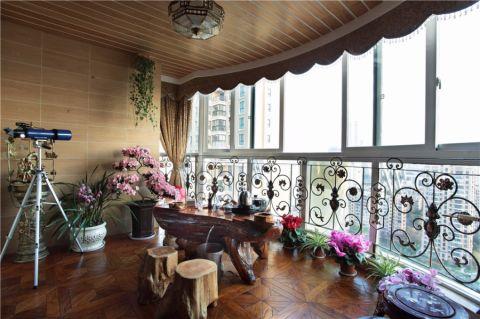 阳台地板砖欧式风格装潢效果图