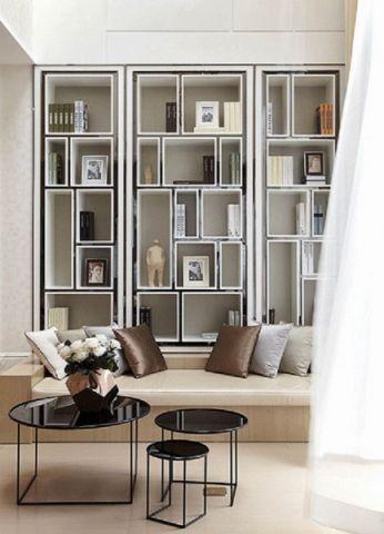 客厅博古架欧式风格装饰效果图