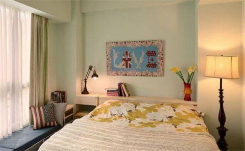 卧室窗帘田园风格装潢图片