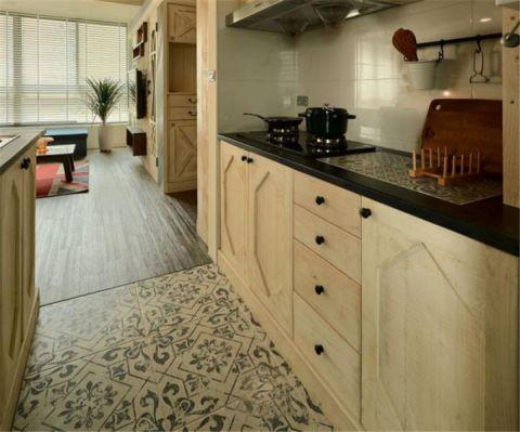 厨房橱柜田园风格装修设计图片