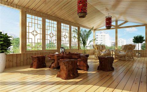 阳台地板砖中式风格装潢设计图片