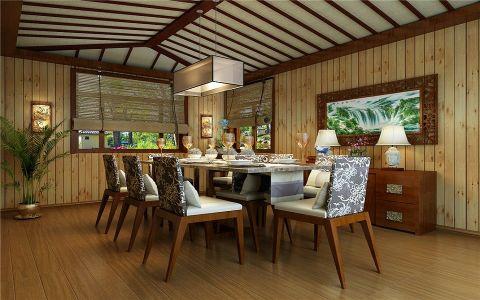 餐厅吊顶中式风格效果图