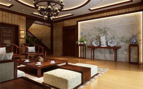 客厅茶几中式风格装修效果图