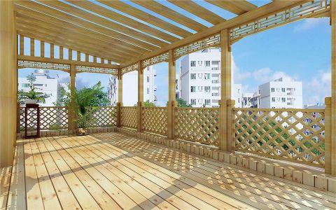 阳台地板砖中式风格装饰效果图