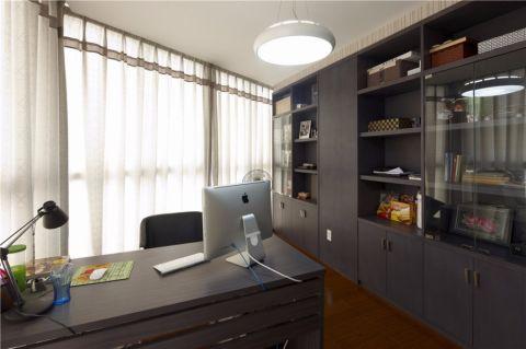书房窗帘现代简约风格装潢效果图