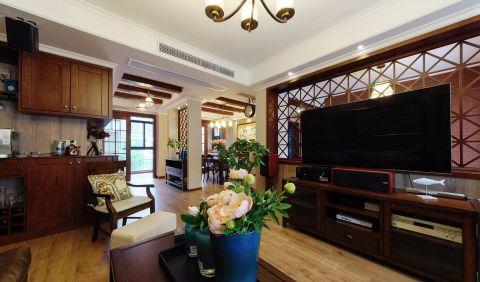 客厅电视柜美式风格装修效果图