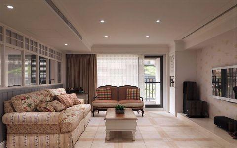 田园风格130平米三室两厅新房装修效果图