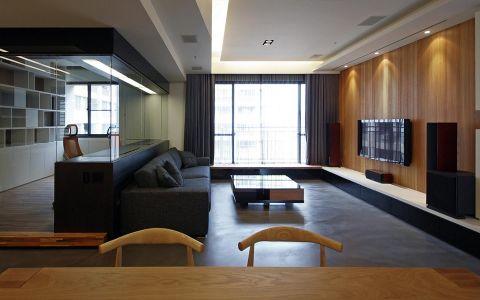 现代风格150平米公寓室内装修效果图