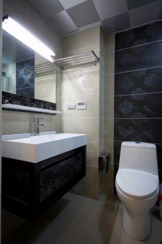卫生间洗漱台现代风格装潢效果图