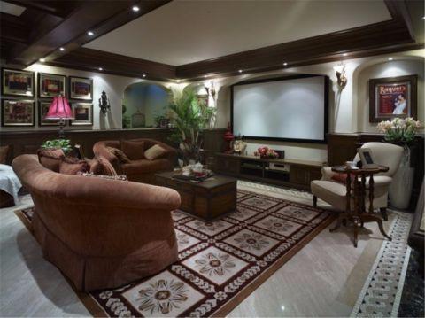 欧式风格140平米三室两厅室内装修效果图