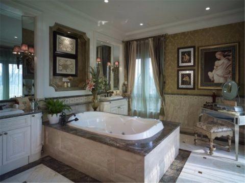 浴室浴缸欧式风格装饰设计图片