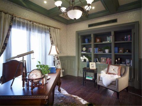 书房博古架欧式风格装饰效果图