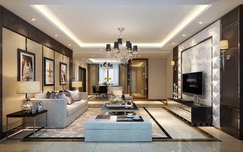 现代简约风格70平米两室两厅室内装修效果图