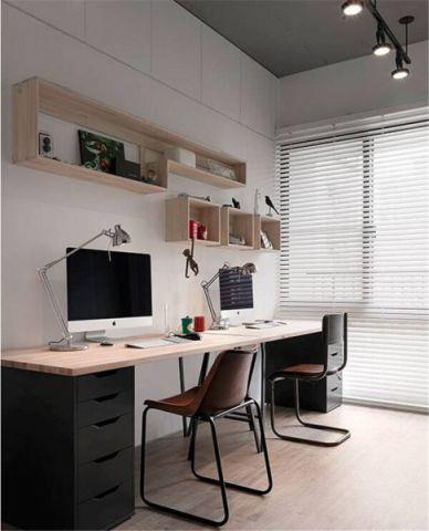 书房书桌简单风格装饰效果图