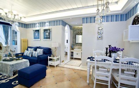 客厅照片墙地中海风格效果图