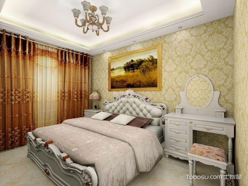 卧室白色梳妆台欧式风格效果图