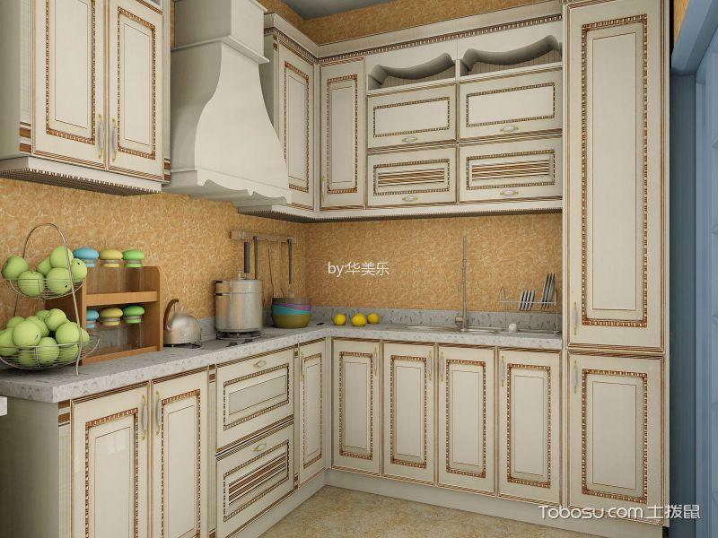 厨房 橱柜_欧式风格110平米公寓室内装修效果图