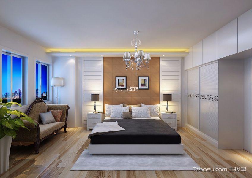 卧室橙色照片墙简欧风格装饰效果图