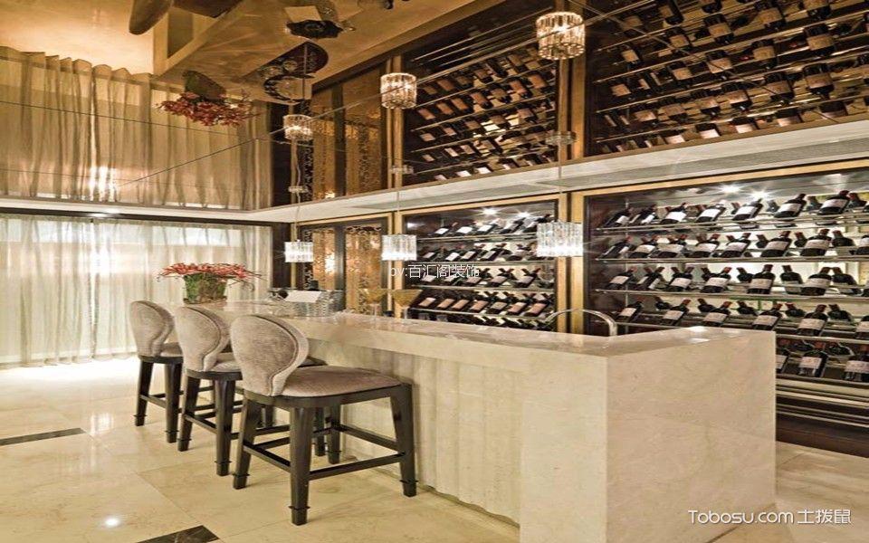 餐厅白色吧台欧式风格装饰图片