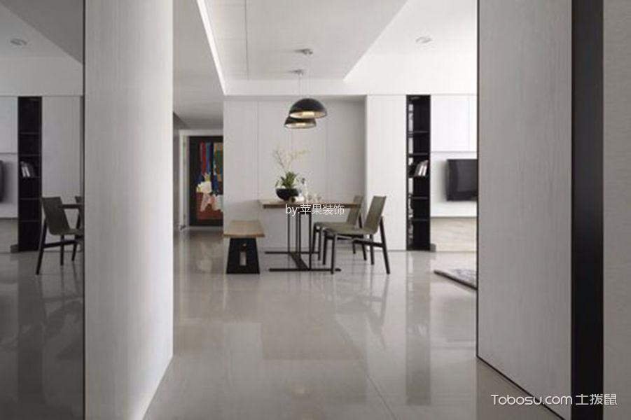餐厅白色地砖简欧风格效果图