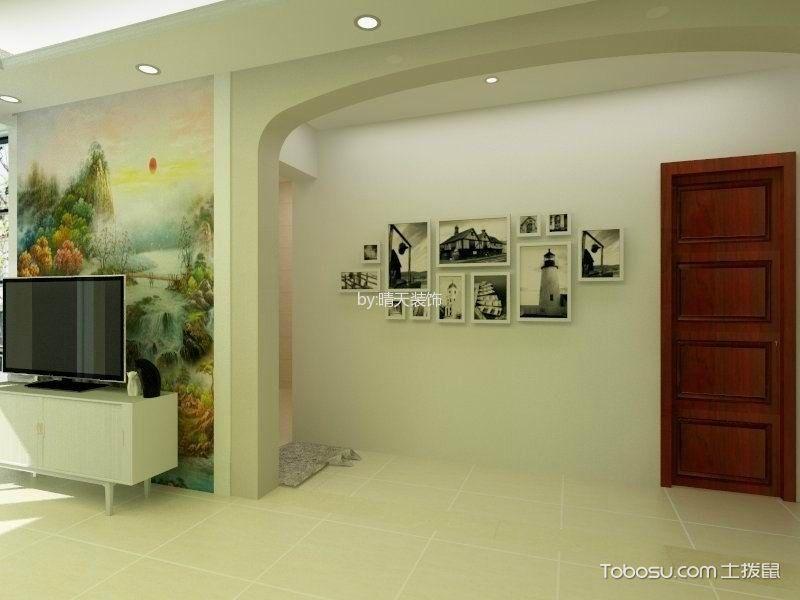 玄关白色照片墙现代简约风格装潢设计图片