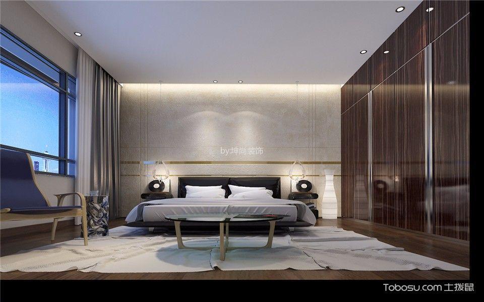 卧室咖啡色衣柜混搭风格装修效果图