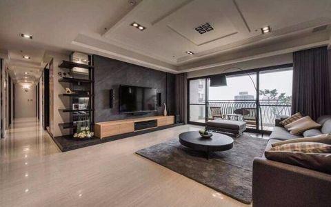 中式风格130平米三室两厅新房装修效果图
