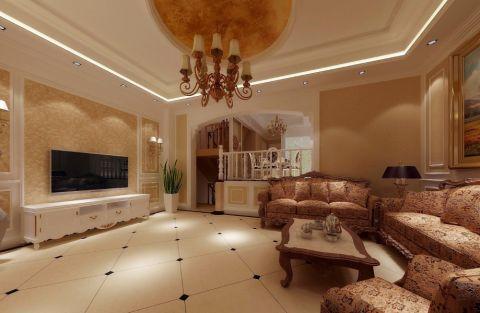 田园风格140平米四室两厅新房装修效果图