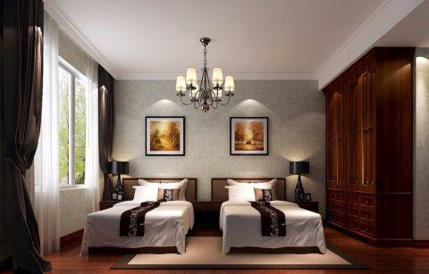 简中风格100平米三室两厅新房装修效果图