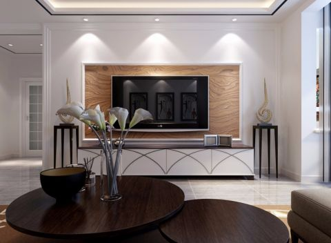 客厅电视柜新中式风格装潢设计图片