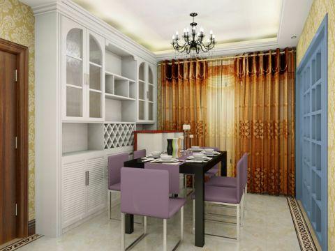 欧式风格110平米公寓室内装修效果图