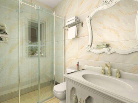 卫生间洗漱台欧式风格装饰效果图